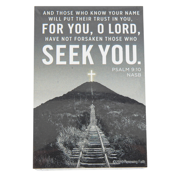 Renewing Faith, Psalm 9:10 Seek You Pass Along Cards, 2 x 3 inches, Set of 10