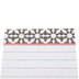 Farmhouse Lane Collection, Rectangle Notepad, 6.25 x 8 Inches, Black, White and Red, 50 Sheets