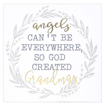 Designs Direct Creative Group, God Created Grandmas Wall or Tabletop Plaque, MDF, 9 x 9 inches