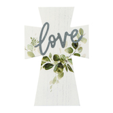 Love Mini Tabletop Cross, MDF, 5 x 7 3/4 inches
