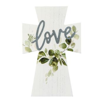 Love Mini Tabletop Cross, MDF, 5 x 7 3/4 inches