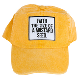 Ruby's Rubbish, Faith The Size Of A Mustard Seed Adjustable Cap, Yellow, One Size