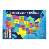 The Brainery, USA Map, Plastic, 11 1/2 x 17 1/2 Inches, Ages 4 and up