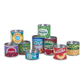 Melissa & Doug, Grocery Cans, Ages 3 to 6 Years Old, 10 Pieces