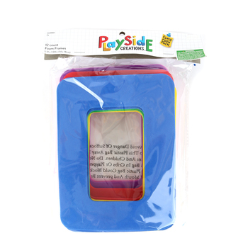 Playside Creations, Foam Frames with Magnet, Assorted Colors, 5.5 x 7.75 Inches, 12 Count