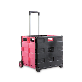Renewing Minds Rolling Cart, 16.5 x 15 x 15.9 inches, Black and Pink, 1 Piece