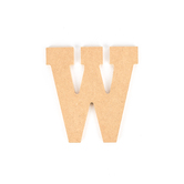 Woodpile Fun, MDF Natural Wood Color Letter - W, 5 inches, Brown