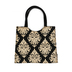 Basically Yours, Gold and Black Damask, Jute Tote Bag, 14 x 12 inches