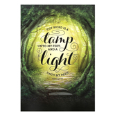 Renewing Minds, Thy Word is a Lamp Unto My Feet, Christian Classroom Poster, 13 x 19 Inches