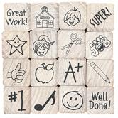 Stampabilities, School Days Rubber Woodblock Stamps, Set of 16, Grades PreK-8