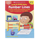 Scholastic, Play & Learn Math: Number Lines Workbook, 64 Pages, Grades K-2