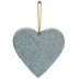 Heart Shaped Wall Art, Galvanized Metal, Silver, 5 1/2 x 5 1/2 inches
