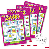 Trend, Fractions Bingo Game, Ages 8 Years and Older, 3 to 36 Players