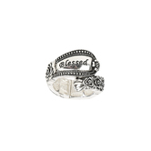 Oori Trading, Blessed, Spoon Inspired Stretch Ring, Silver Plated