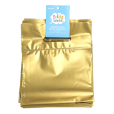 Bright Ideas, Zipper Bags with Handle, Gold, Translucent Plastic, 20 Count