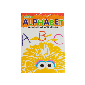 Sesame Street, Alphabet Write and Wipe Preschool Workbook, Paperback, 7 Pages, Ages 3-5