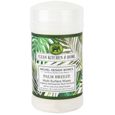 Michel Design Works, Palm Breeze Multi-Surface Wipes, 60 Wipes
