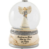 Pavilion Gift, Friends Elements Angel Snow Globe, Glass and Resin, 4 x 5 1/2 inches
