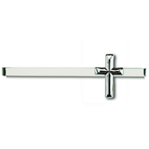 H.J. Sherman, Medium Cross Tie Bar, Silver