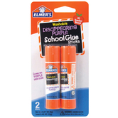 Elmer's, Disappearing Purple School Glue Sticks, Washable, 2 per pack