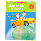 Scholastic, Map Skills for Today Grade 2: Take A Trip With Us Activity Book, Paperback, 48-Pages