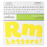 Renewing Minds, Yellow Bulletin Board Letters, Upper and Lowercase, 4 Inches, Yellow, 217 Pieces