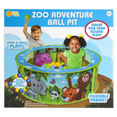 Sunny Days, Zoo Adventure Ball Pit, 11 3/4 x 35 1/2 inches, Ages 12 Months & Older