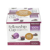 Broadman & Holman, Fellowship Cup Pre-filled Communion Cups with Juice Only, Set of 100