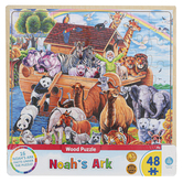 MasterPieces, Noahs Ark Wooden Tray Jigsaw Puzzle, 48 Pieces, 11 x 11 inches