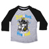 NOTW, Jesus Is My Rock And That's How I Roll, Kid's Raglan Sleeve T-shirt, Black/Heather Gray, Youth X-Small