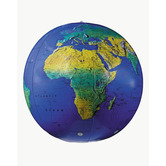 Replogle, Inflatable Topographical Globe, 12 Inches, Blue, Pack of 1