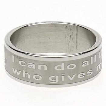 Dicksons, Philippians 4:13, Men's Ring, Stainless Steel