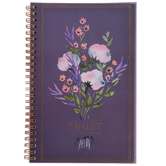 Christian Art Gifts, Trust In The Lord Notebook, PVC, Cardstock, Purple, 5 1/2 x 8 1/2 Inches