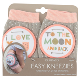 Demdaco, I Love You To The Moon and Back Kneezies, Cotton and Polyester, 3 1/4 x 5 1/4 inches