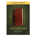 TLB The Living Bible, Large Print, Duo-Tone, Brown and Tan