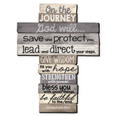 LCP Gifts, Jeremiah 29:11 On the Journey Wall Cross, MDF Wood, 11 1/4 x 15 inches