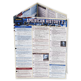 BarCharts Inc, American History 2 Laminated Quick Study Guide, 8.5 x 11 Inches, 6 Pages, Grades 6-12