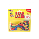 Pepperell Crafts, Bead Laces, Primary Colors