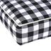 Buffalo Check Plush Dog Bed, Polyester, Black & White, 16 1/2 x 24 1/2 inches