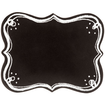 Curly Bracket Chalkboard, Black, 15 x 12 inches