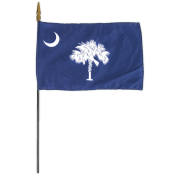 Annin Flagmakers, South Carolina State Flag, Polyester, 8 x 12 inches