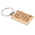 P. Graham Dunn, Good Morning This Is God Wood Keyring, Chrome Pewter, 1.38 x 2.38 Inches