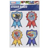 Eureka, Marvel Superhero Adventure Sticker Badges, 2 3/4 x 2 1/2 Inches, Pack of 40