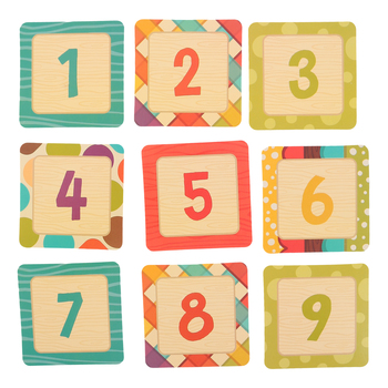 Woodland Tails Collection, Calendar Days, 2.5 x 2.5 Inches, 6 Designs, 36 Pieces