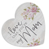 I Love That You're My Mom, Wood Heart, Whitewashed and Pink, 3.50 x 3.25 x 1 Inch