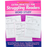 Scholastic, Extra Practice for Struggling Readers: Word Study, Reproducible, 80 Pages, Grades 3-6