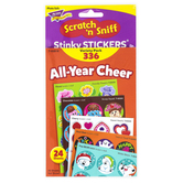 TREND enterprises, Inc., All-Year Cheer Scratch 'n Sniff Stinky Stickers® Variety Pack, 336 Stickers