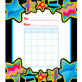 Creative Teaching Press, Poppin' Patterns Stars Incentive Charts, 5.25 x 6 Inches, 36 Sheets