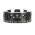 Spirit & Truth, Ephesians 6:11, Armor of God Black Knight, Men's Ring, Stainless Steel, Size 10