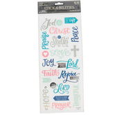 the Paper Studio, Faith Words Sticker Pack, 19 Clear Stickers